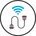 cabling round icon